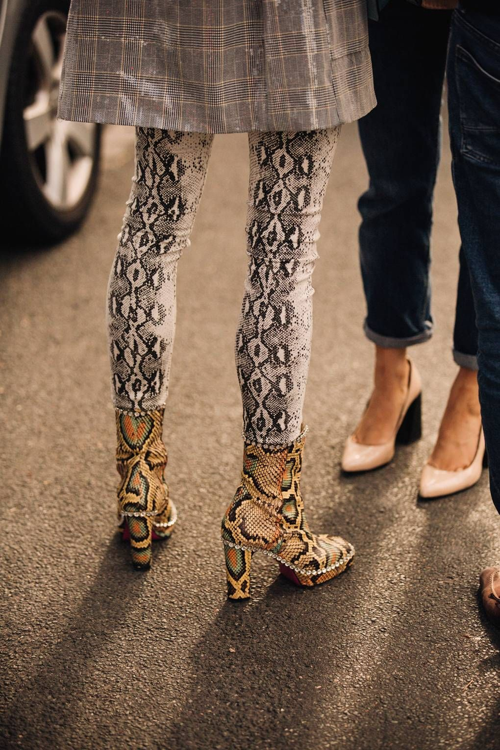 The Best Street Style From Paris Fashion Week #snakeprintbootsoutfit