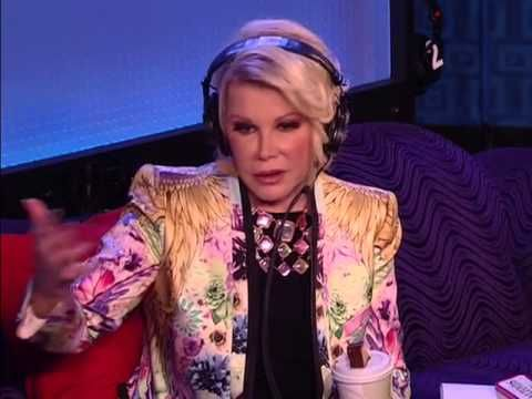 As Featured on Howard Stern Show!!- Joan Rivers on  GARBO sofa