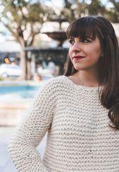 Photo of Knit Kit – Simple Knit Sweater – Kits – Lion Brand Yarn – Simple Knitting Patter…