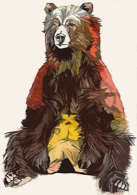 Bear - Photoshopped by luke-dixon-art, via Flickr