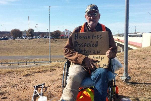 "Days go past and I see this man sitting near the walmart over by base... his sign reads, ""Homeless Disabled Veteran, Please help me, God Bless You."" Everytime I see him he is silent, and humble. I decided to speak to the man, to see who he was other than the ""Homeless Vet"" everyone knows him by. ..."