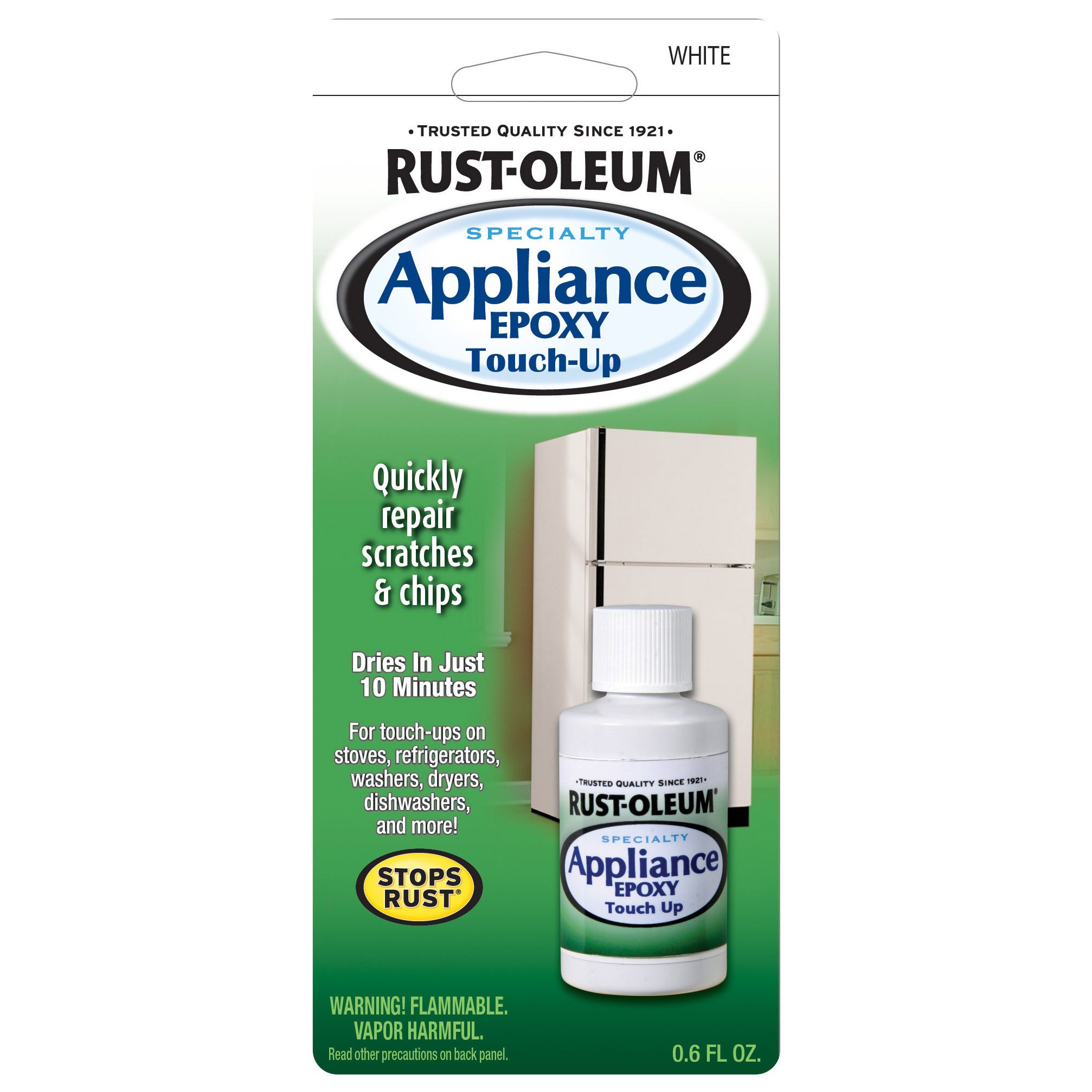 Rustoleum 203000 0.6 Oz White Specialty Appliance Epoxy Touch Up ...