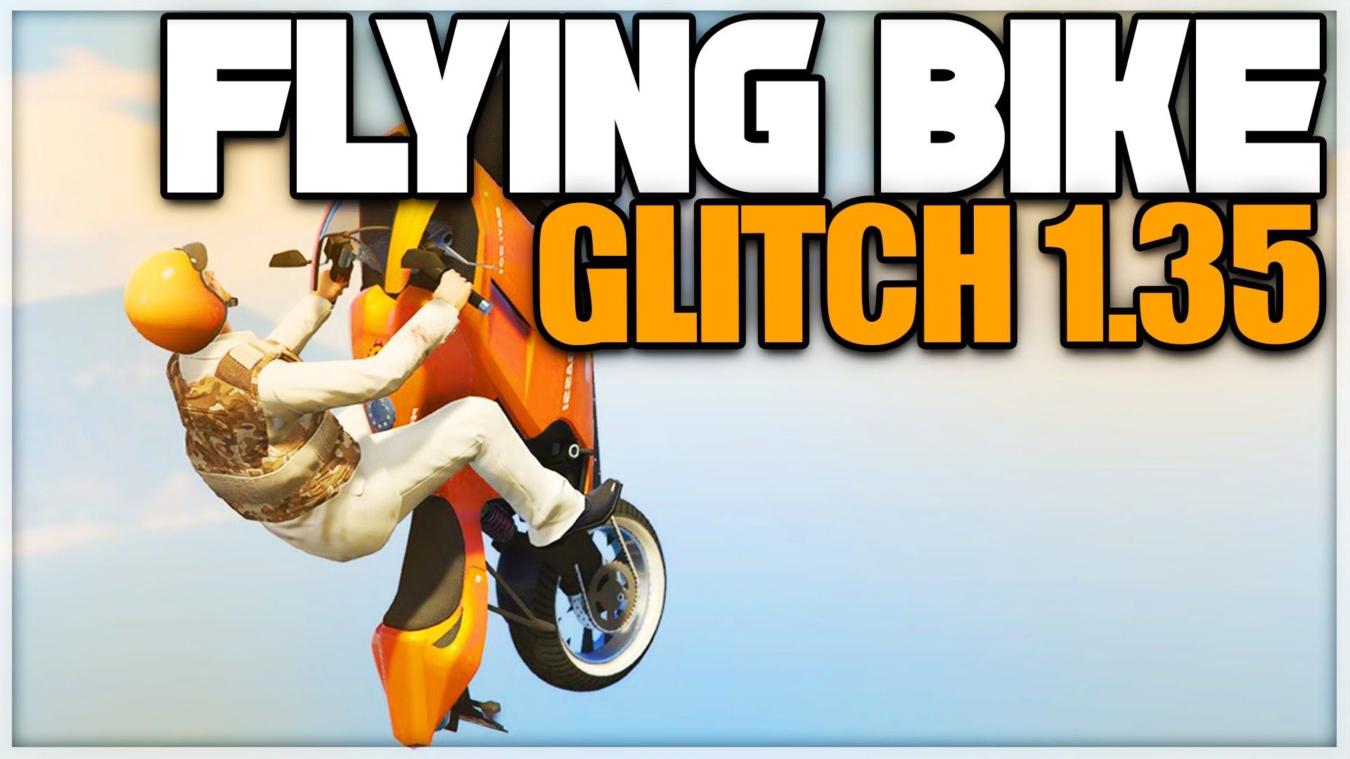 Gta 5 Online Flying Bike Glitch 1 35 Gta 5 Glitches In 2020