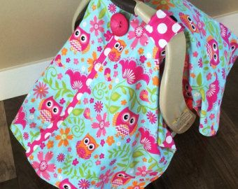 Carseat Canopy Owl And Hot Pink