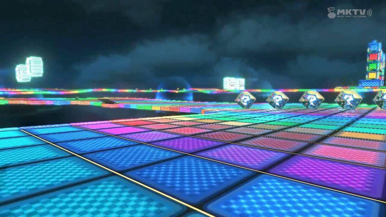 Wii U Mario Kart 8 Snes Rainbow Road Mario Kart 8 Mario Kart Mario