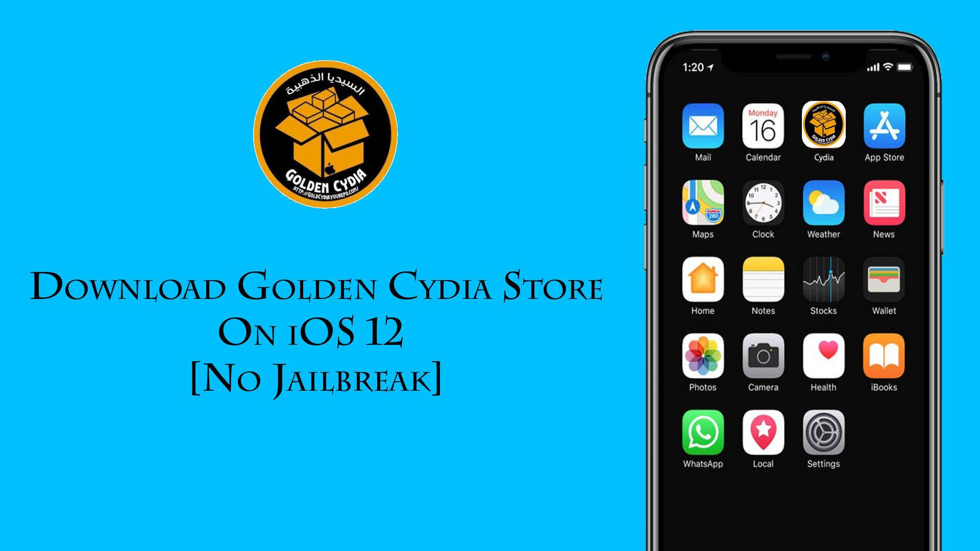 How to Download golden Cydia store on iOS 12 without