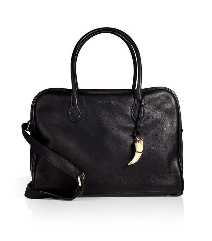 Balmain Pierre 24 Hours Leather Tote in Black