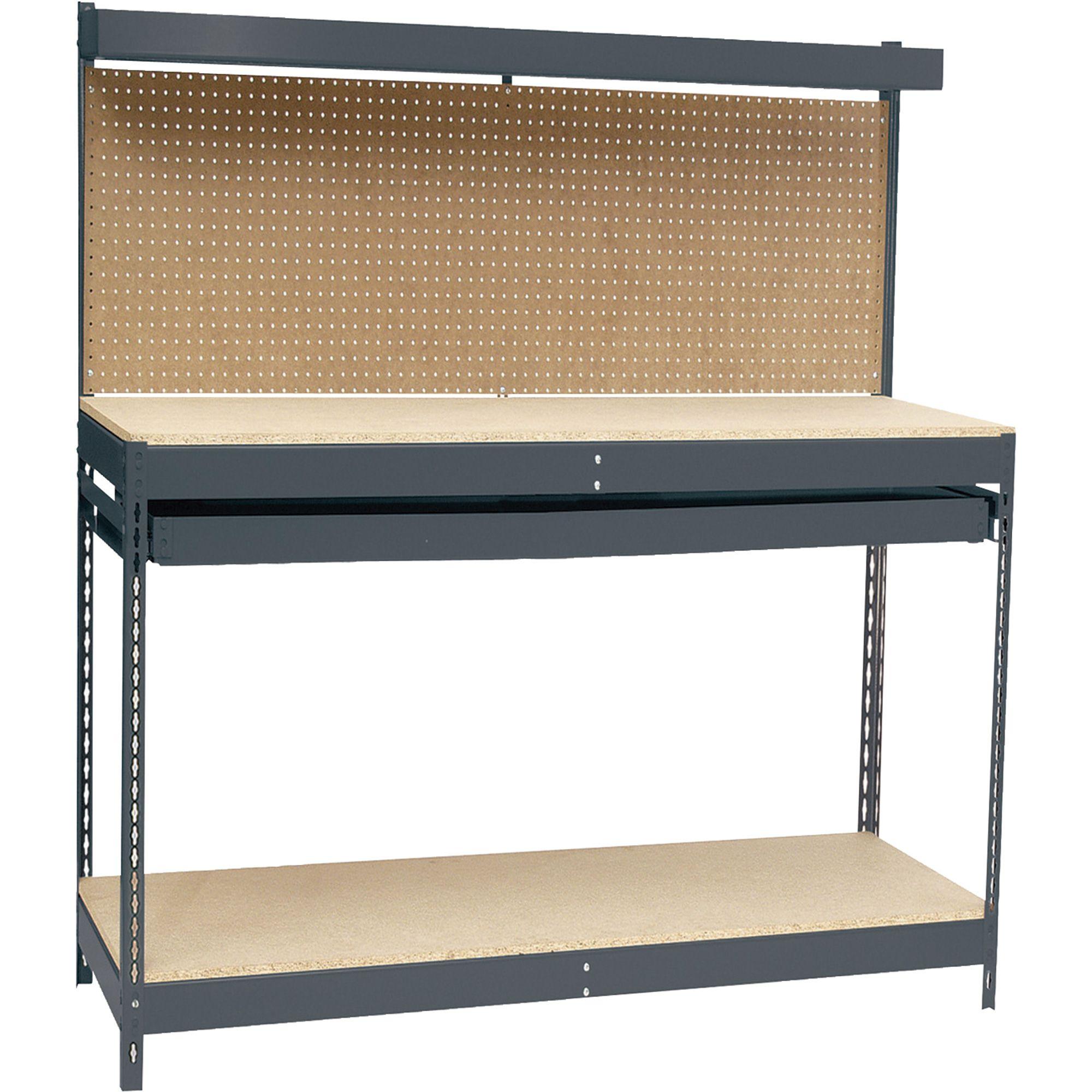 Edsal Maxi-Rack 48in. Workbench — 48in.W x 24in.D x 60in.H, Model ...