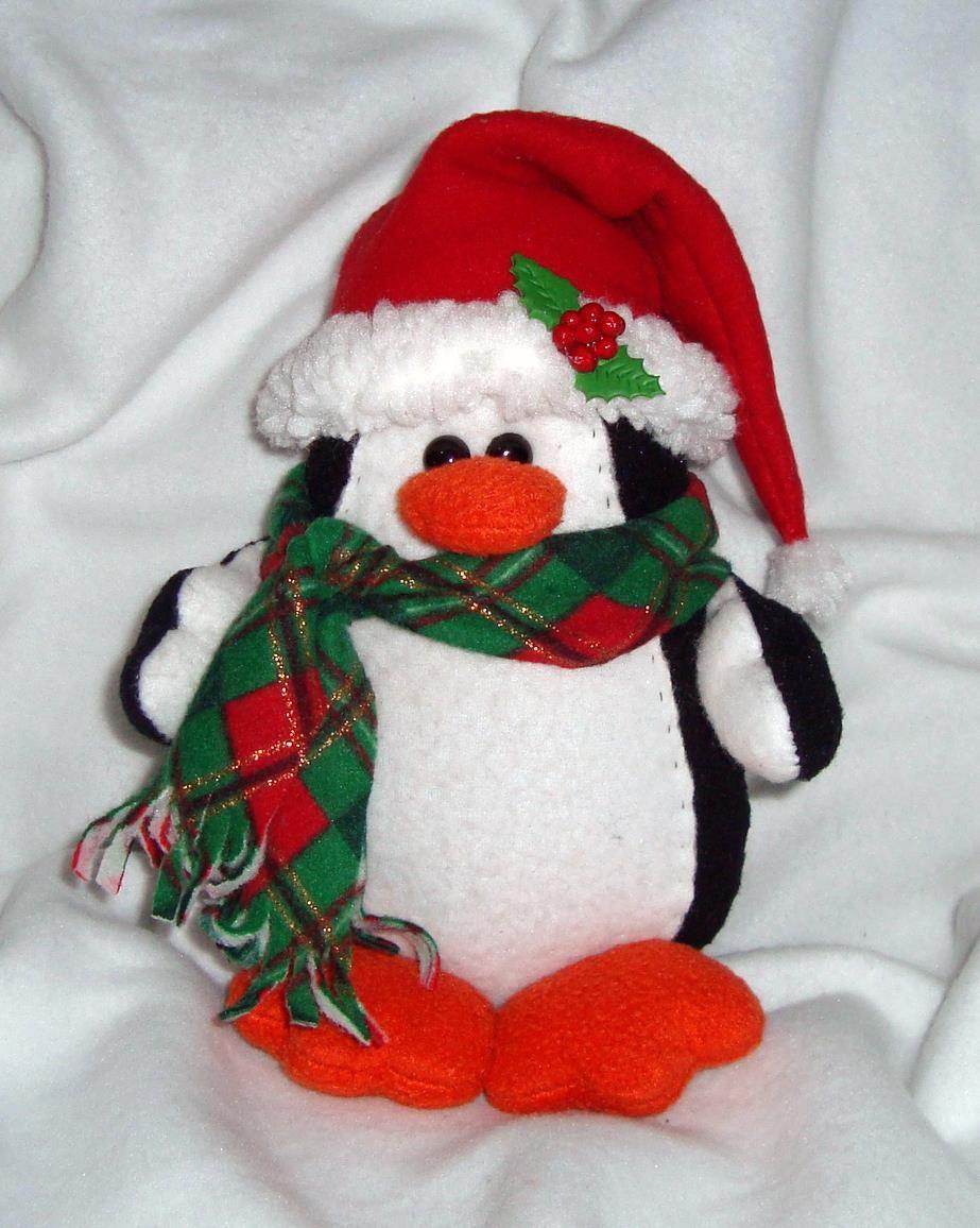 un pinguino del polo norte con estilo navide o hecho en