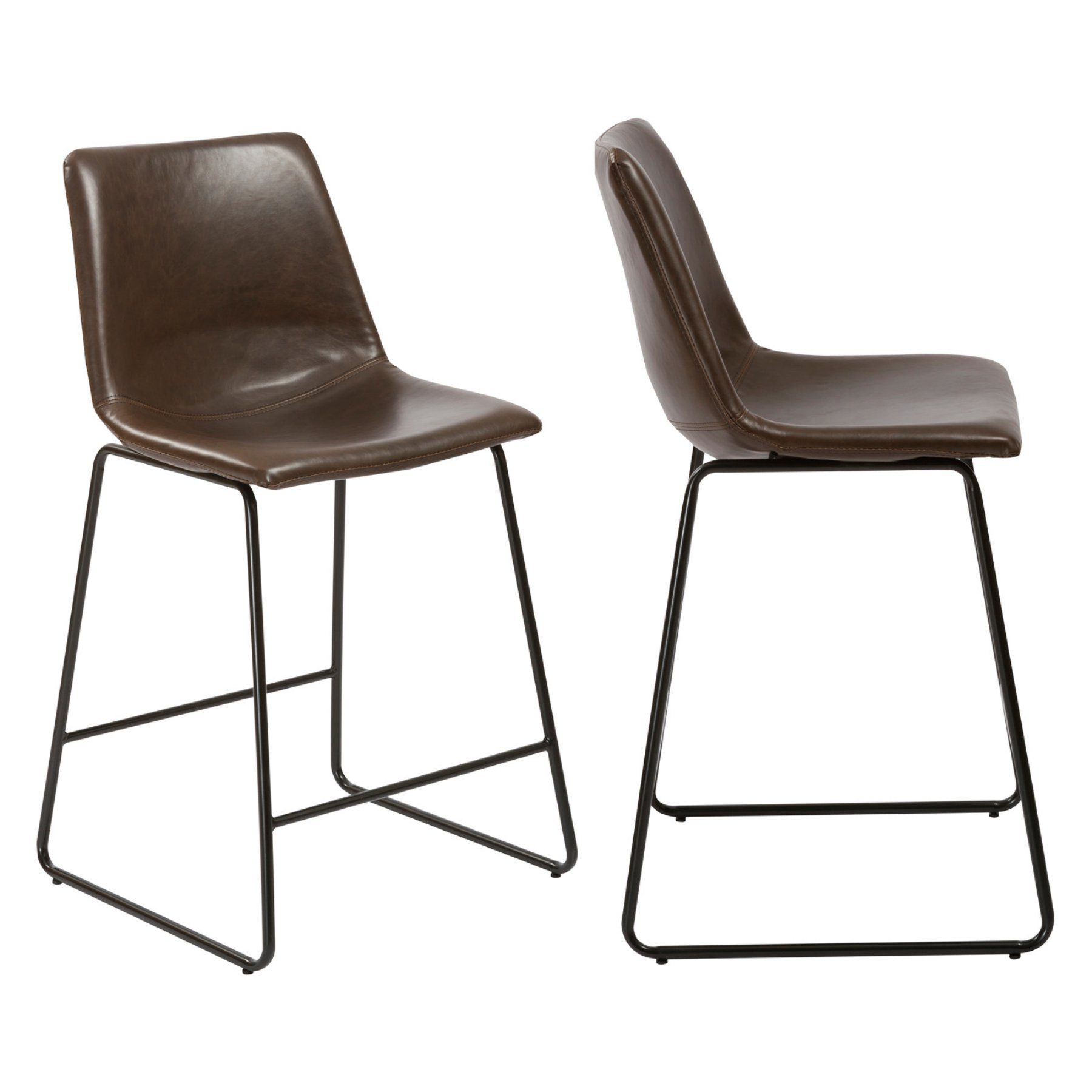 Btexpert Contemporary 24 In Faux Leather Counter Height Stool