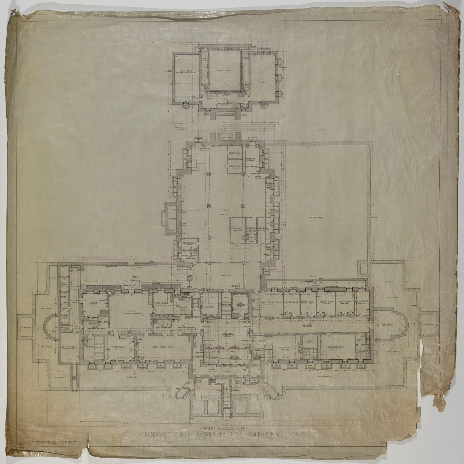 Lynnewood hall basement floor plan architectural floor for Basement blueprint