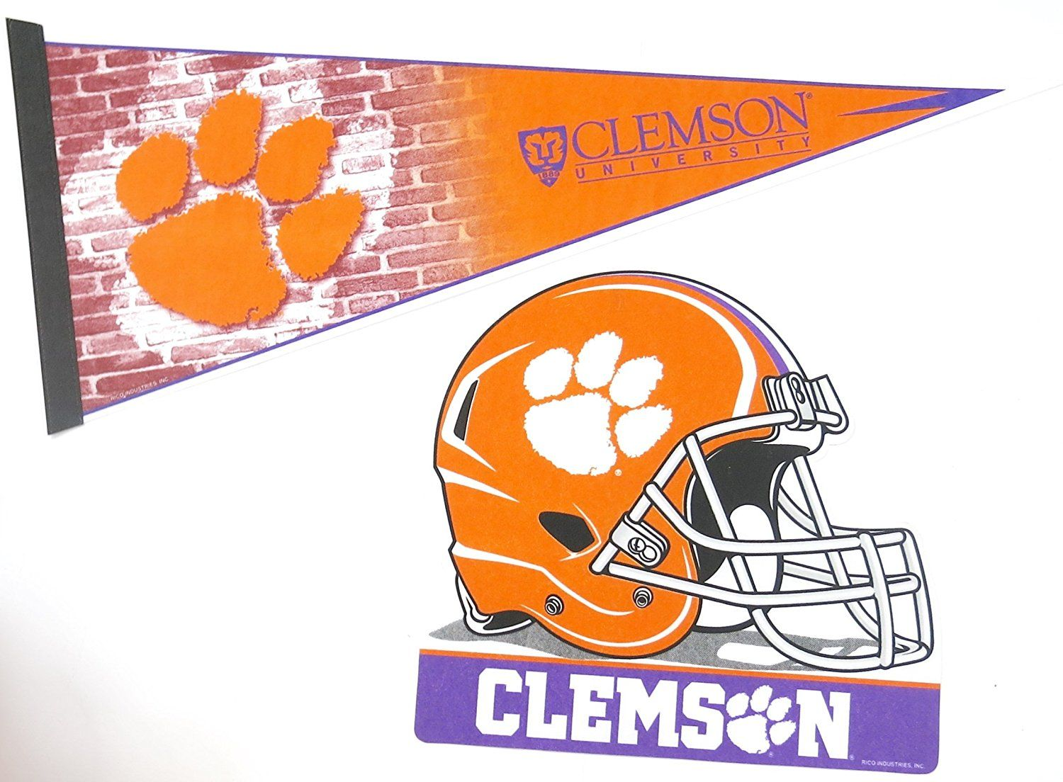 Clemson university nfl wall decor one 17 x 30 large pennant clemson university nfl wall decor one 17 x 30 large pennant design and 12x 12 one helmet design you can find more details by visiting the image amipublicfo Image collections