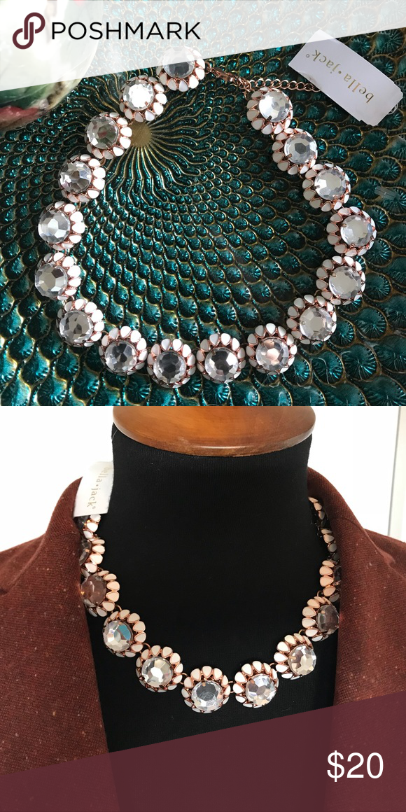 NWT Bella Jack Necklace | Rose, Gold and White gold