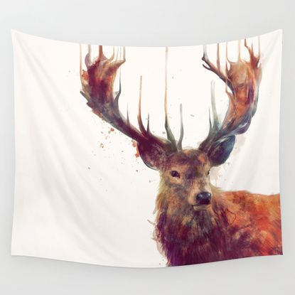 Red Deer // Stag Wall Tapestry