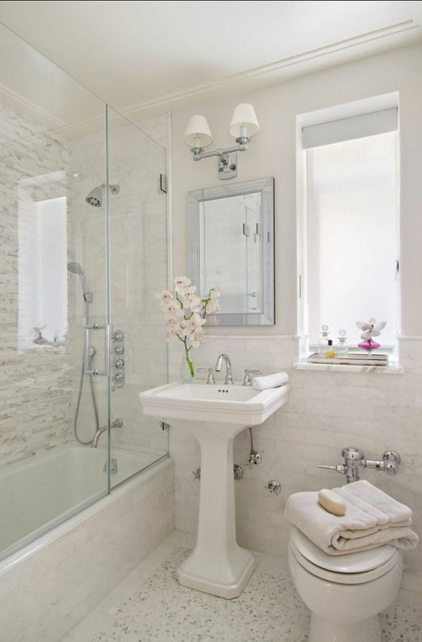 kleines badezimmer gestalten duschkabine badewanne badgestaltung, Badezimmer