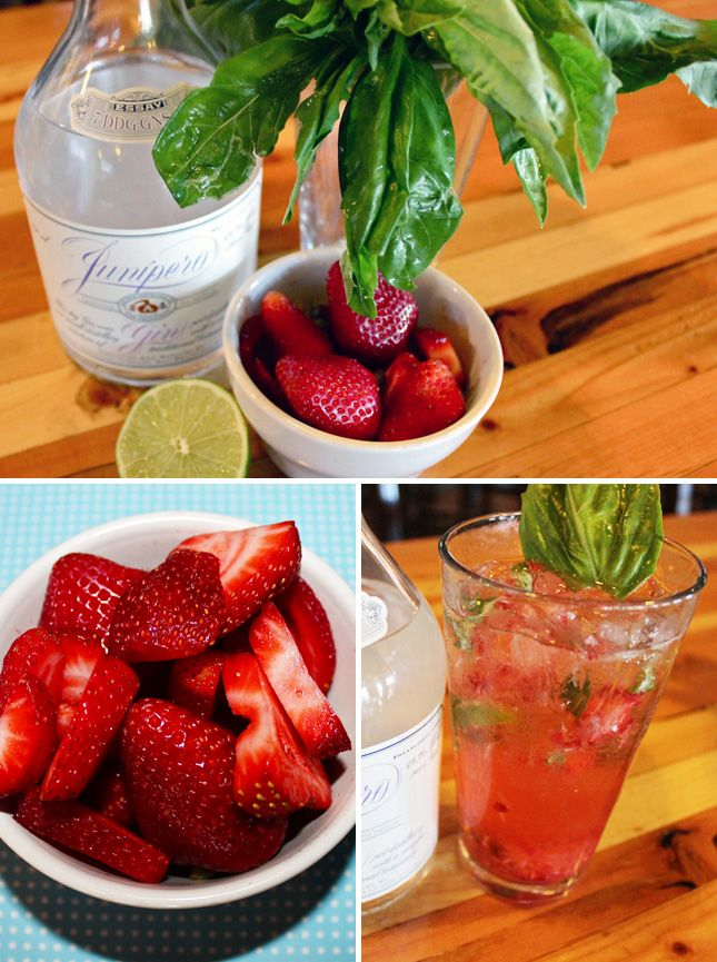 Strawberry Basil Gin Smash | 5 Smashing Cocktails for Summer