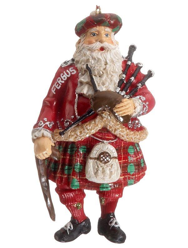 Scottish Santa with Bagpipes Christmas Ornament - Scottish Santa With Bagpipes Christmas Ornament CHRISTMAS Around