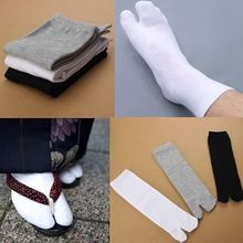 4d60eb82f Japanese Trendy Men Women Kimono Geta Split Toe Socks Clog Flip Flop Cotton  Tabi Meias Ninja