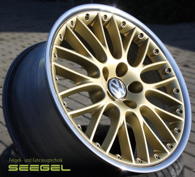 BBS 2teilig- Stern BBS racing Gold-Horn poliert