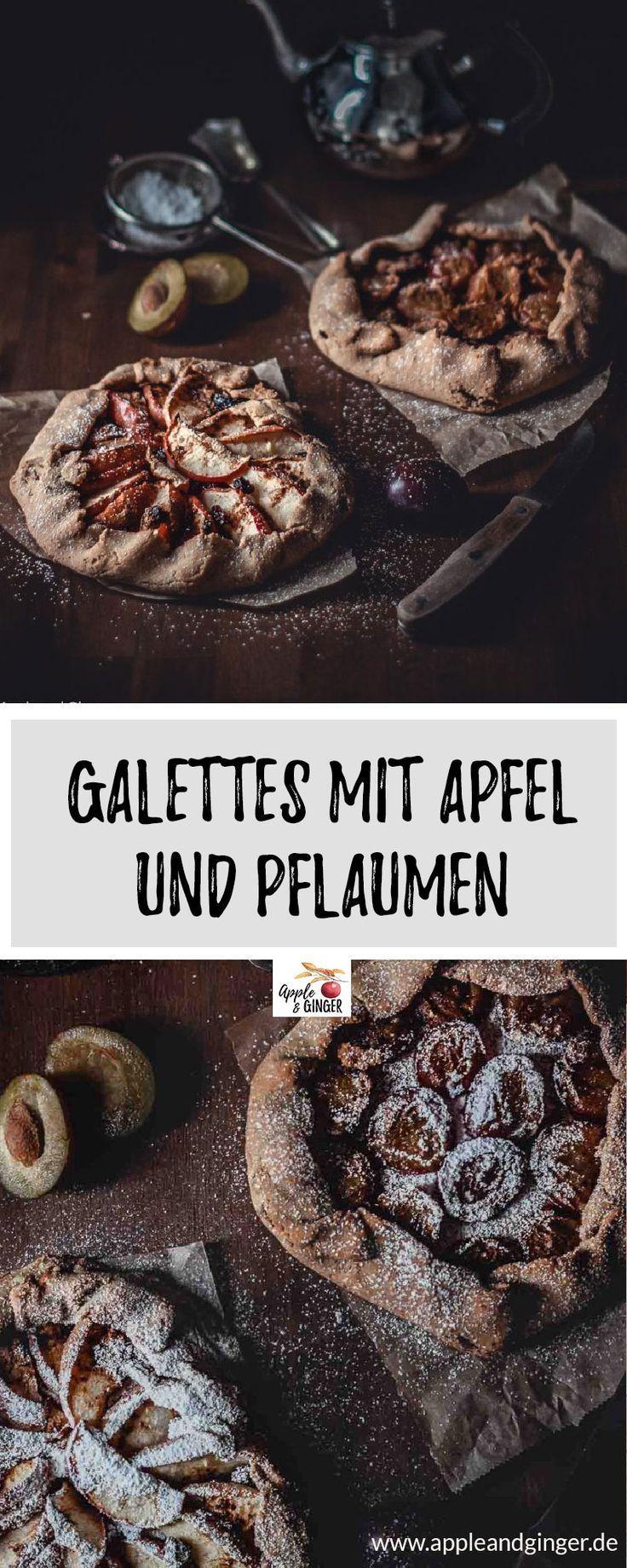 Galettes mit Apfel und Pflaumen Perfekt für den herbst - super leckere glutenfreie Galettes mit Äpfeln und Pflaumen! Die schmecken richtig nach Herbst und kommen ganz ohne Zucker aus. Eine tolle Alternative zu Kuchen.