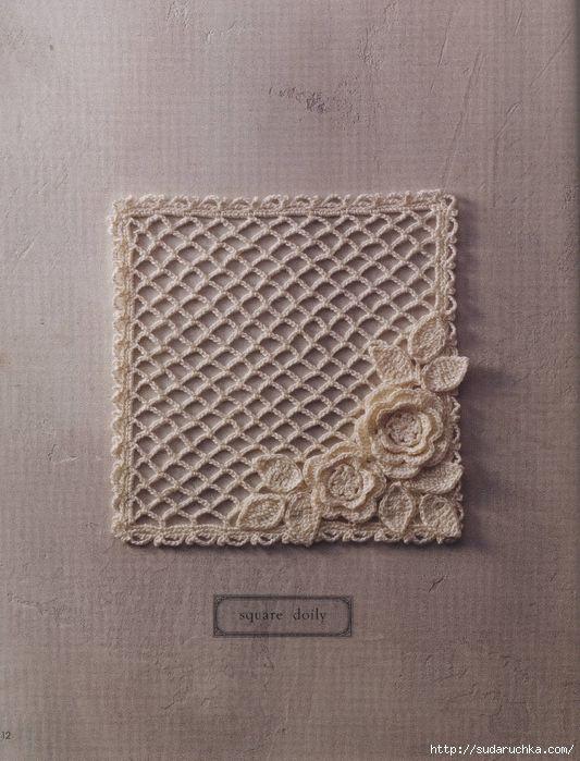 Crochet Knitting Handicraft: Irish lace   Ideas para el hogar ...