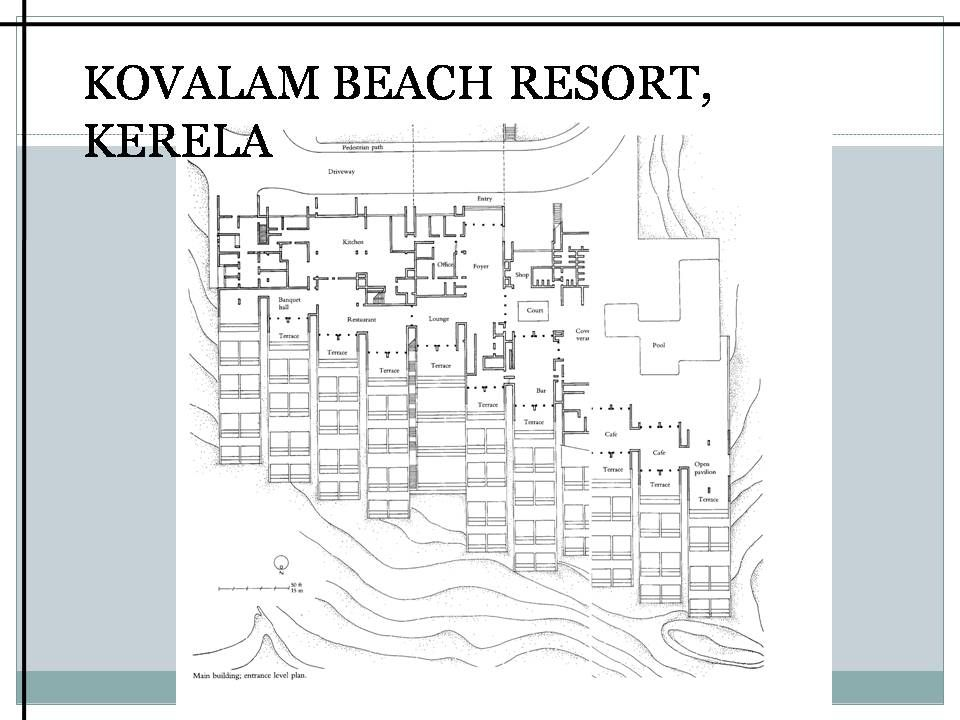 charles correa � kovalam beach resort plan pinterest