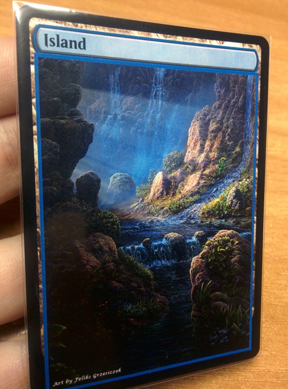 1x Island #19.1 Extended Textless Full Art Custom Altered Basic Land GnD Cards