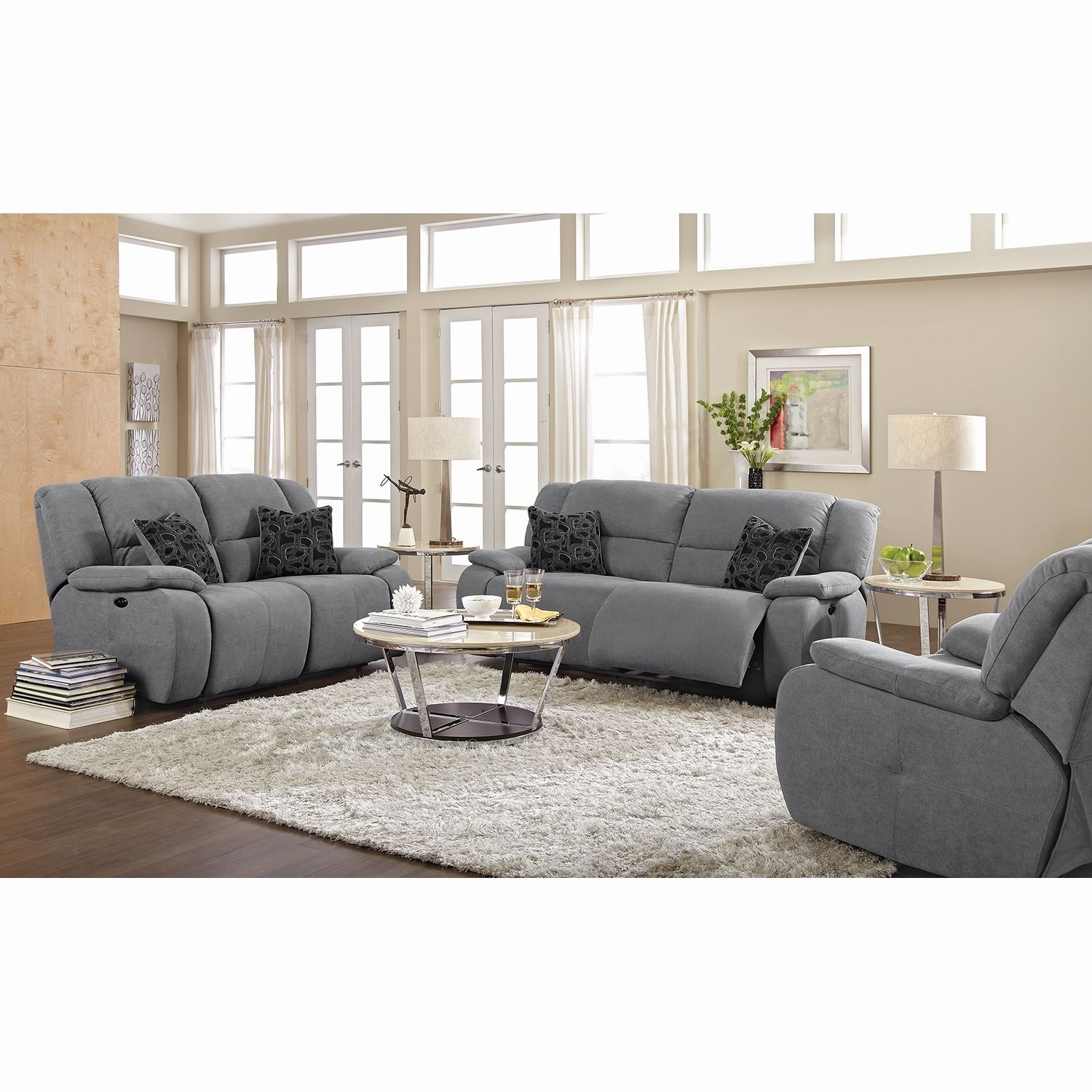 Inspirational Brown Microfiber Reclining sofa living room