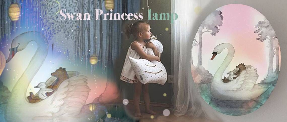 Schwanenprinzessin Princess Lamp Kid Room Decor
