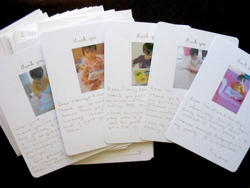 Great idea for thank you cards on behalf of kids