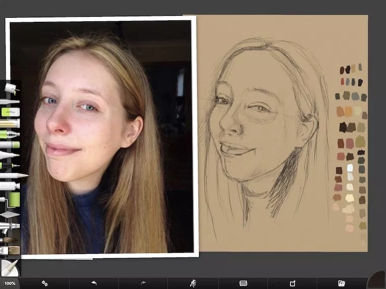 How I Paint On The iPad – A Step-By-Step Portrait in ArtRage