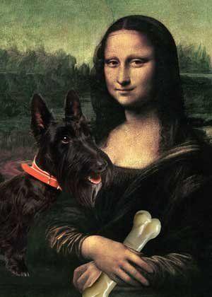Amazon.com: Scottish Terrier Art Print on Canvas: Home & Kitchen