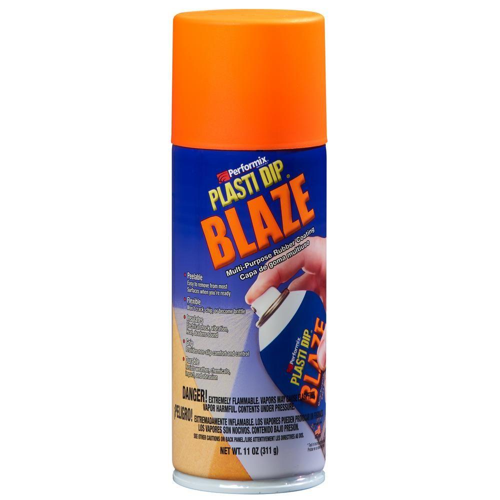 Plasti Dip 11 Oz Blaze Orange Plasti Dip 11218 6 Orange Dips Aerosol Spray Paint