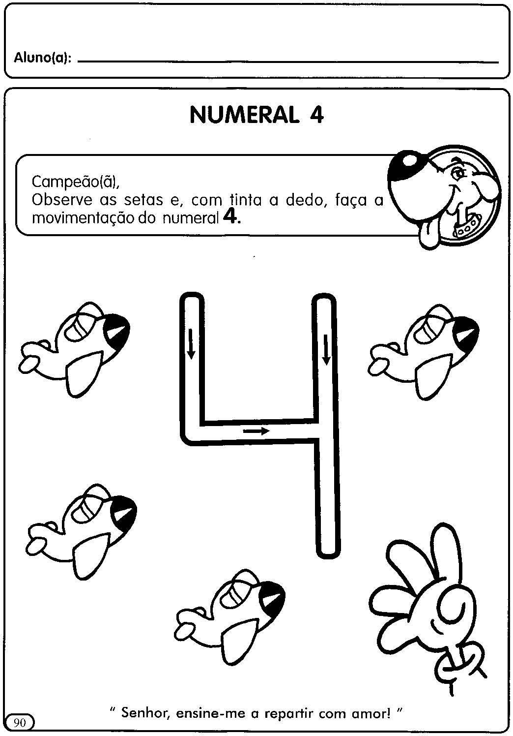 Atividades Para Educacao Infantil Numerais De 1 A 5 Atividades