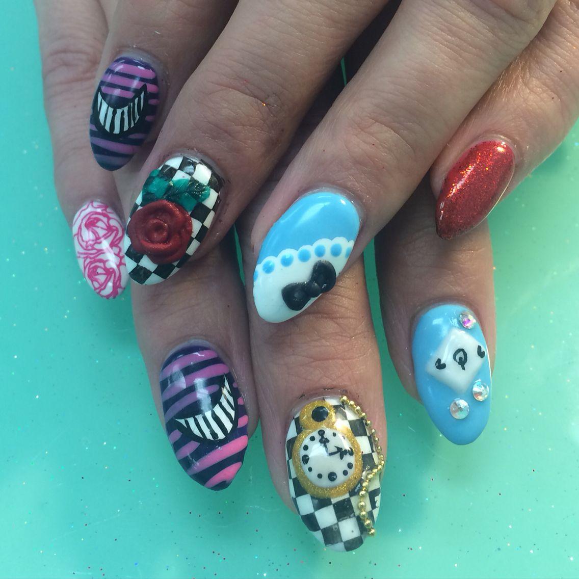 Alice in wonderland nails | Nails I've done | Pinterest ...