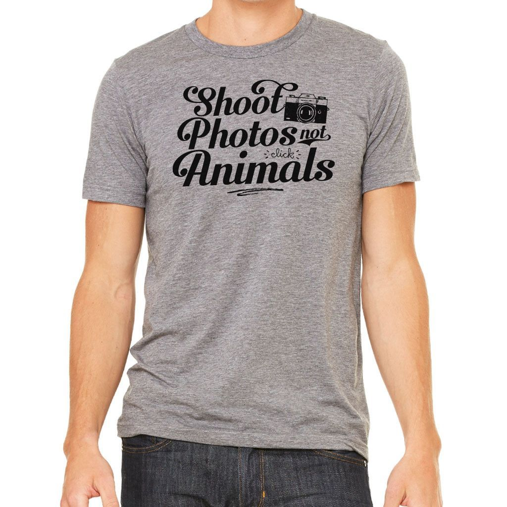 Vegan Clothing - Vegan Shirt - Shoot Photos not Animals