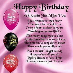 Happy Birthday Cousin Quotes Pinronda May On Birthday Wishes  Pinterest  Birthdays