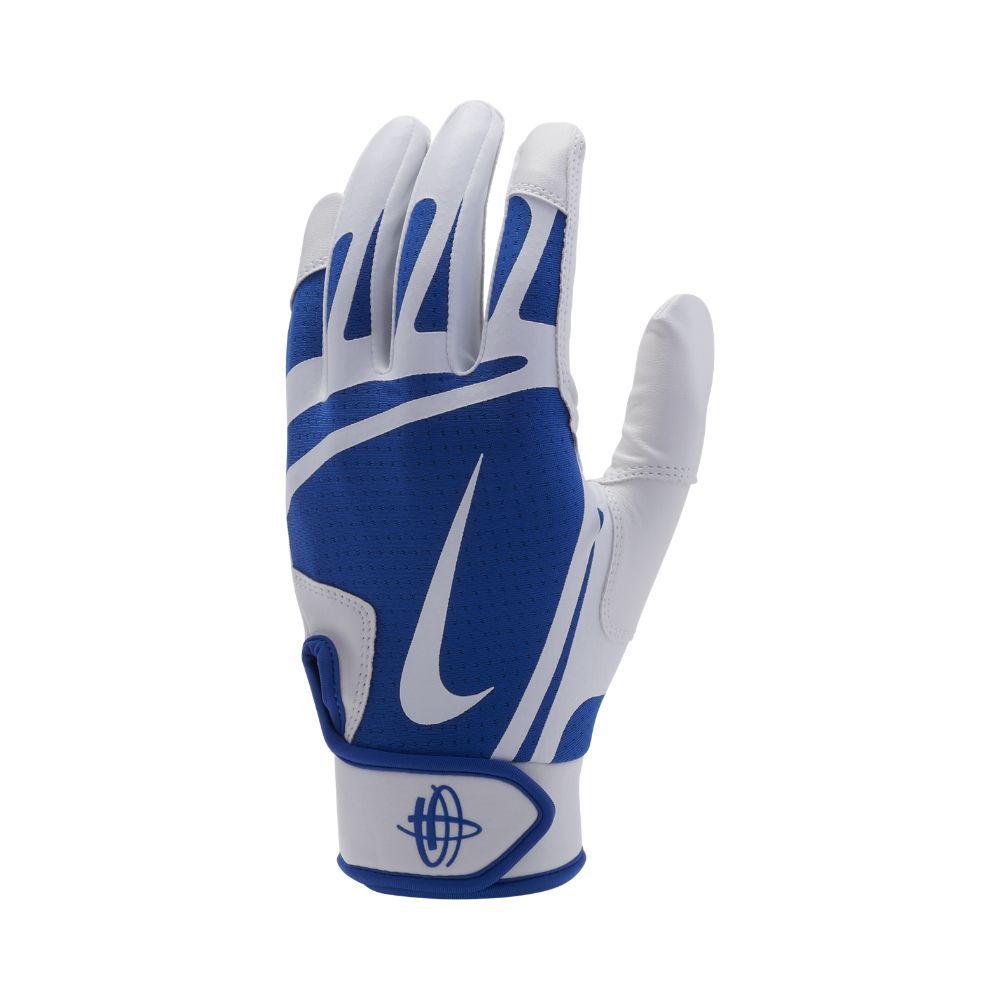 380e03514b43 Nike Huarache Edge Baseball Batting Gloves Size Medium (White)