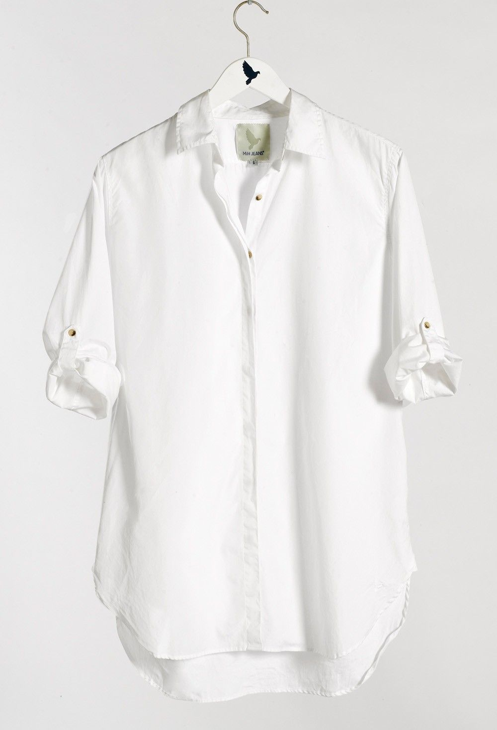 4de82159f The OVERSIZE SHIRT - Women's shirt - EXTRA LONG SHIRT - Polo White - MiH