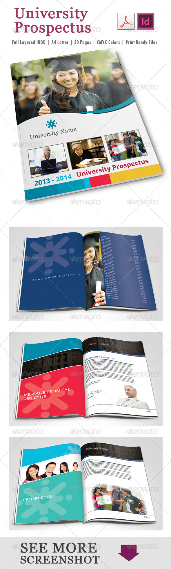 University Prospectus Template  Template Brochures And Brochure