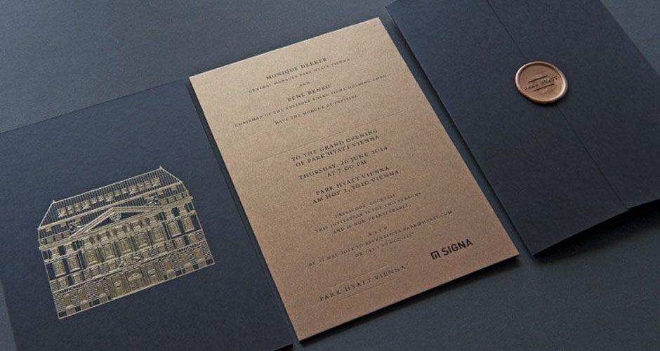 exklusive einladungen zur eröffnung des park hotels hyatt in wien, Einladungsentwurf