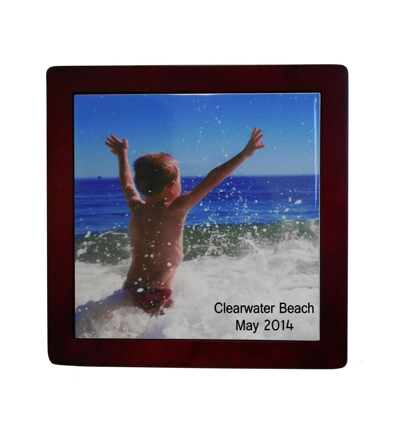 Vacation photo gifts personalized ceramic tile personalized vacation photo gifts personalized ceramic tile personalized gifts desktop display plaques by photogiftskalucaart dailygadgetfo Choice Image