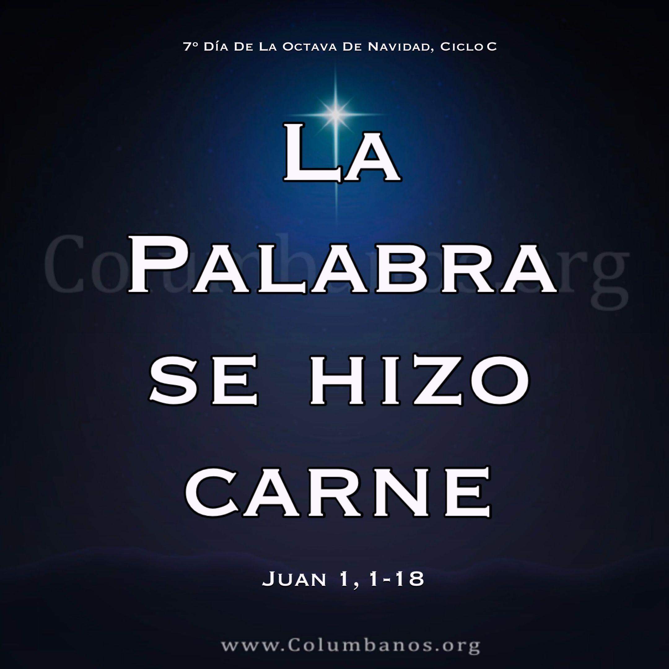 Evangeliodeldia Catolico Columbanos 7º Día De La Octava De Navidad Ciclo C Juan 1 1 18 En El Principio Ya Exis Evangelio Del Dia Amor Perdon Evangelio
