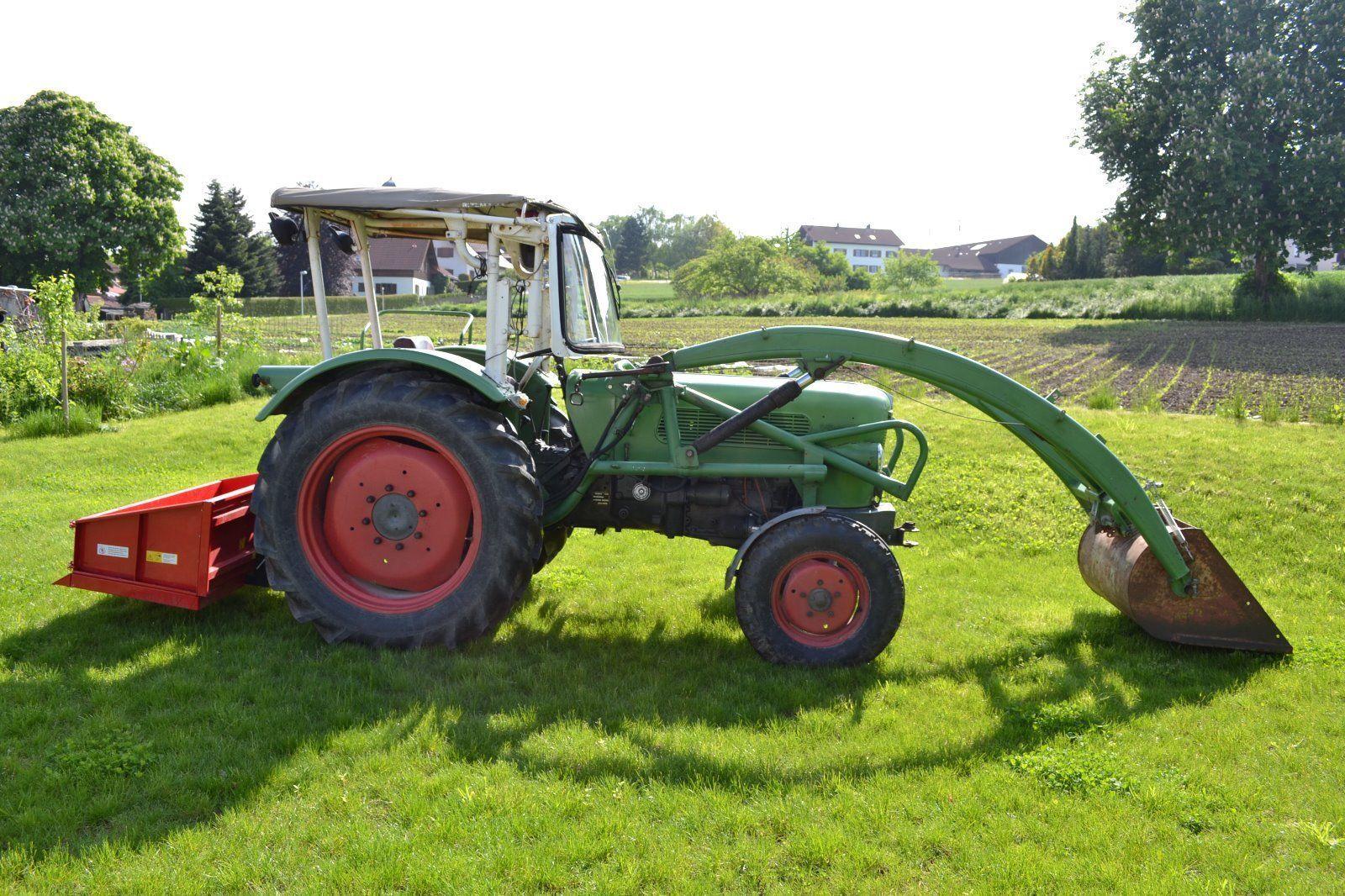 fendt farmer 2 fw 139 traktor schlepper frontlader inkl heckcontaier in business. Black Bedroom Furniture Sets. Home Design Ideas