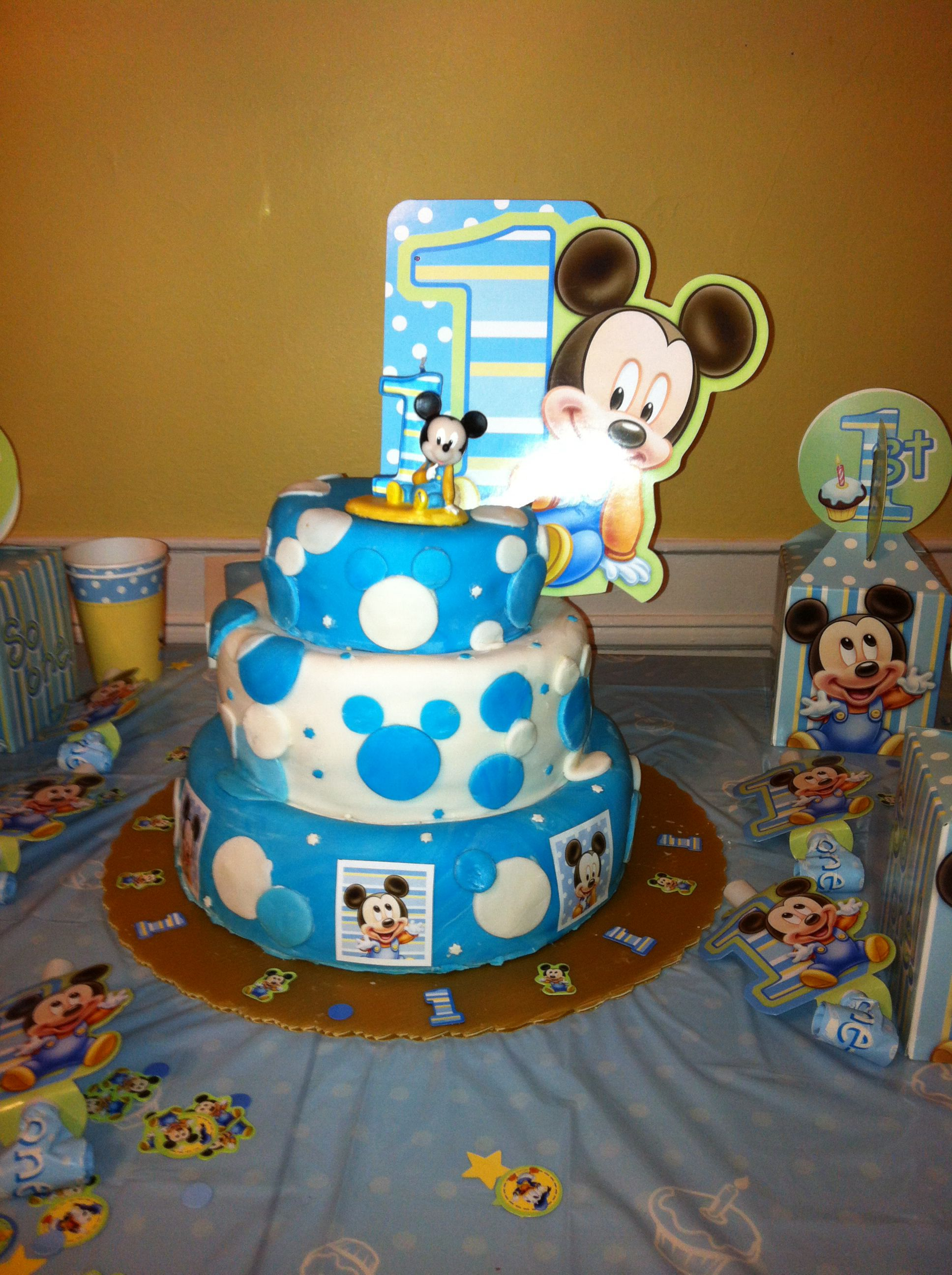 Awe Inspiring 1St Birthday Baby Mickey Mouse With Images Mickey 1St Funny Birthday Cards Online Alyptdamsfinfo