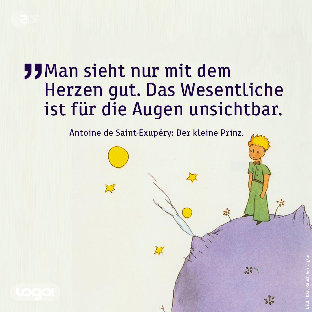 Zdflogo Heute Vor 120 Jahren Ist Antoine De Saint Exupery Geboren Er Hat Das Beruhmte Buch Der Kleine Spruche Zitate Der Kleine Prinz Zitate