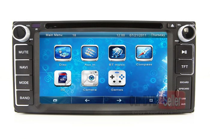 Head Unit Auto Stereo Car Dvd Player Gps Navigation For Toyota