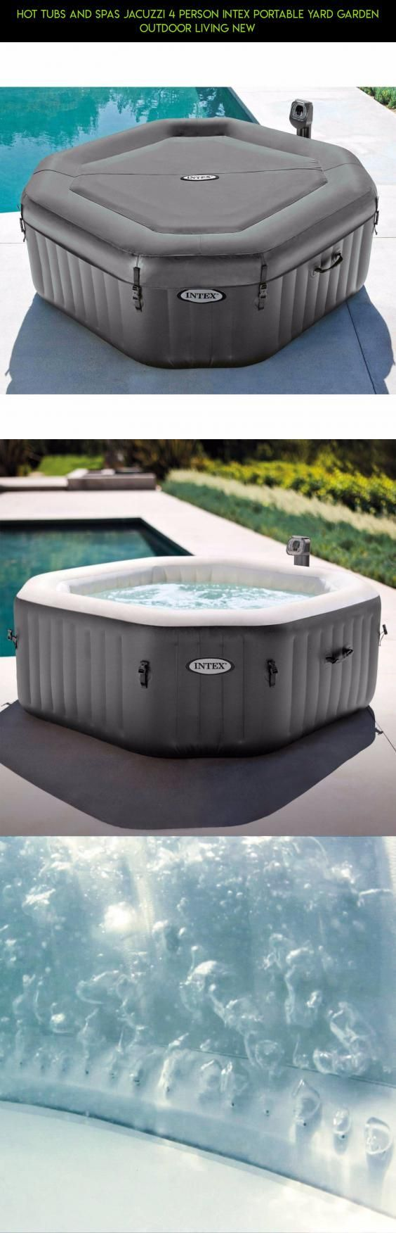 Hot Tubs and Spas Jacuzzi 4 Person Intex Portable Yard Garden ...