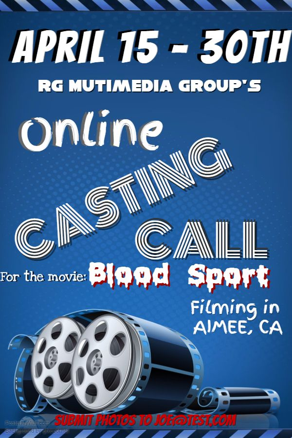 Online Casting Call Poster. Click on the image to customize on PosterMyWall.