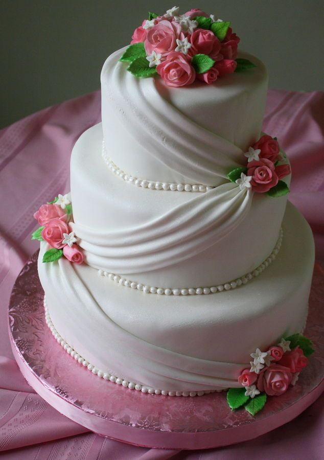 This Three Tier Cake 12 9 And 6 Was My First Wedding Recipesrose